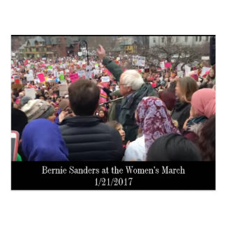 Bernie Sanders at the Women's March Postcard
