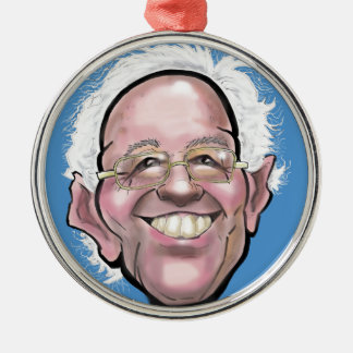 Bernie Sanders Caricature Silver-Colored Round Decoration