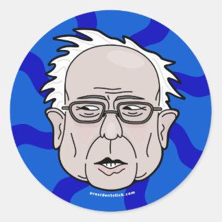 Bernie Sanders cartoon face Classic Round Sticker