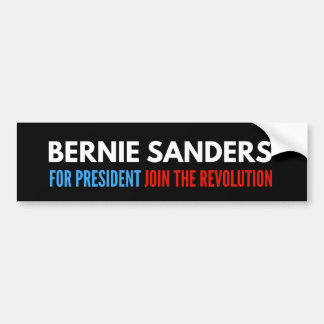 Bernie Sanders For President - Join The Revolution Bumper Sticker