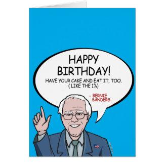 Bernie Sanders Greeting - Happy Birthday -.png Card