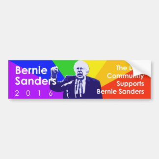 Bernie Sanders LGBT Support Bumper Sticker