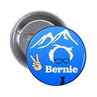 Bernie Sanders - Mountains 6 Cm Round Badge