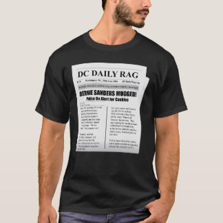 Bernie Sanders Mugged Spoof Newspaper TShirt