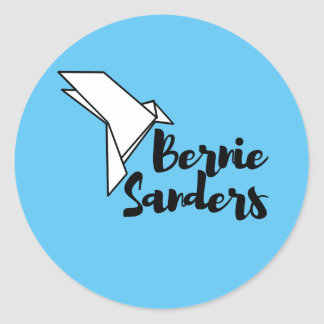 Bernie Sanders Origami Dove Stickers (six)