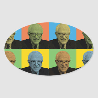 Bernie Sanders Pop-Art Oval Sticker