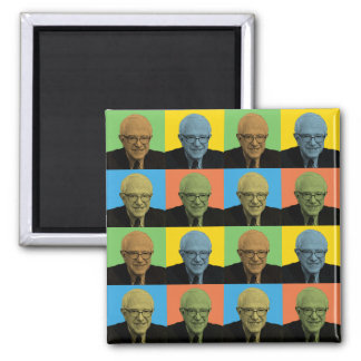 Bernie Sanders Pop-Art Square Magnet