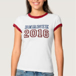 Bernie Sanders President 2016 Athletic Font Tee Shirt