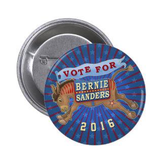 Bernie Sanders President 2016 Democrat Donkey 2 6 Cm Round Badge