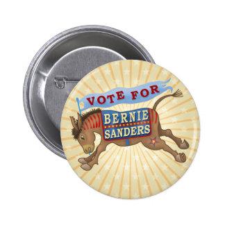 Bernie Sanders President 2016 Democrat Donkey 6 Cm Round Badge