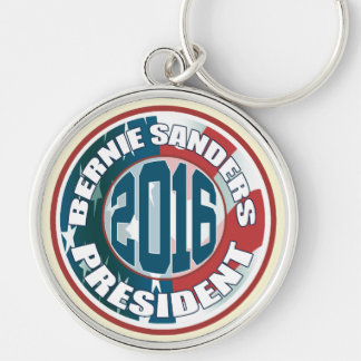 Bernie Sanders President 2016 Silver-Colored Round Key Ring