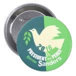 Bernie Sanders President for Peace 7.5 Cm Round Badge