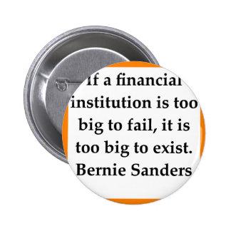 Bernie Sanders quote 6 Cm Round Badge