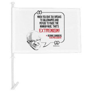 Bernie Sanders Quote - Tax breaks for Billionaires Car Flag
