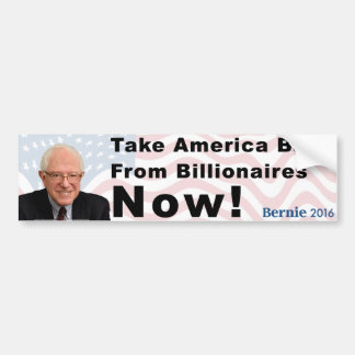 Bernie Sanders Take America Back Bumper Sticker