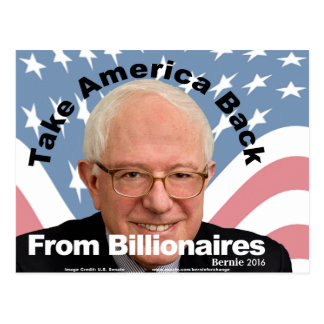 Bernie Sanders Take America Back Postcard