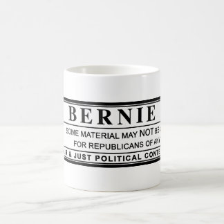 Bernie Sanders Warning Label Coffee Mug