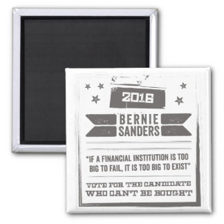 Bernie: The Candidate Can't Can't Be Bought Square Magnet