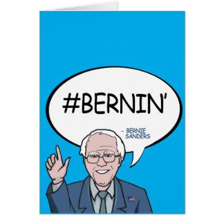 #Bernin' - Happy Birthday Greeting Card