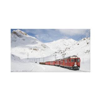Bernina Railway Canvas Print