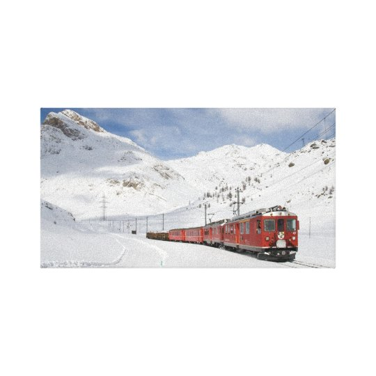 Bernina Railway Canvas Print
