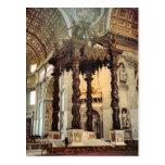 Bernini's canopy over the high altar postcards