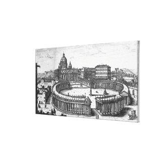 Bernini's original plan for St. Peter's Square Canvas Print