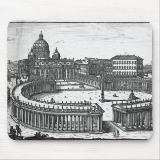 Bernini's original plan for St. Peter's Square Mouse Mat