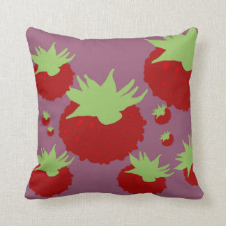 Berries Blossom Decor#7b Modern Throw Pillows