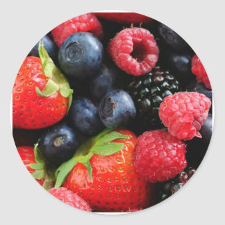 berries classic round sticker