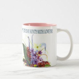 Berries in a Blue Jar Two-Tone Mug