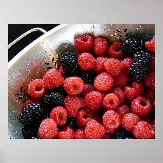 Berries in Colander 03 Poster