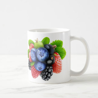 Berries mix basic white mug