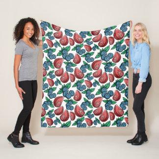 Berries Pattern fleece blankets