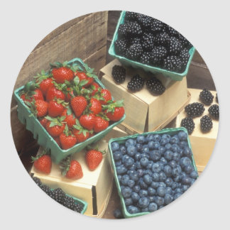 Berries Round Sticker