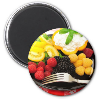 Berry And Cottage Cheese Salad Refrigerator Magnet