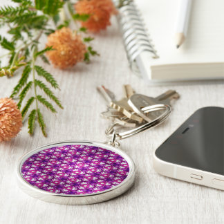 Berry Bliss Silver-Colored Round Key Ring