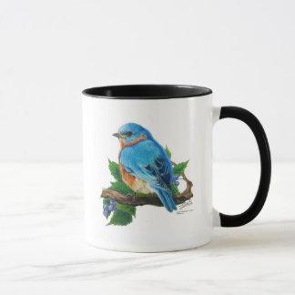 Berry Bluebird Mug