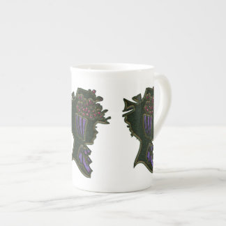 Berry Bonnet Cameo Bone China Mug