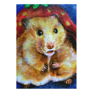 Berry Boy (Hamster) ACEO Art Trading Cards Pack Of Chubby Business Cards
