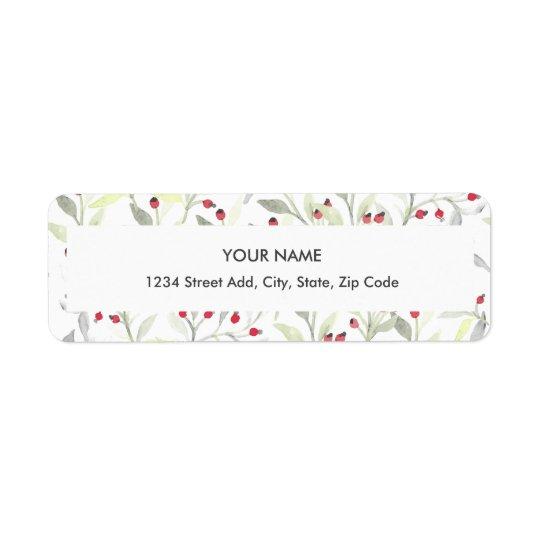 Berry Branches Return Address Label