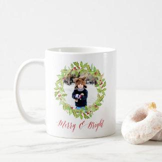 Berry & Bright | Holiday Photo Coffee Mug
