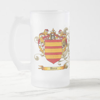 Berry Coat of Arms 16 Oz Frosted Glass Beer Mug