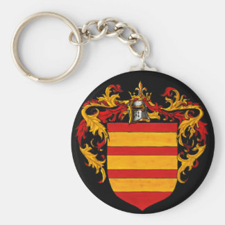 Berry Coat of Arms Basic Round Button Key Ring