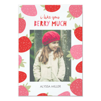 Berry Cute Classroom Valentine Card