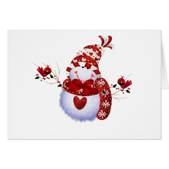 Berry Cute Snowman Card