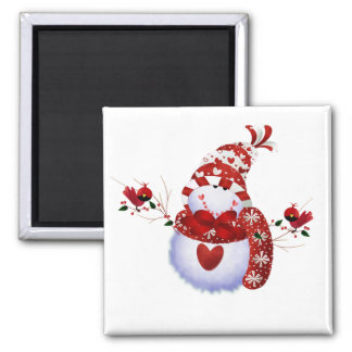 Berry Cute Snowman T-shirts and Gifts Square Magnet
