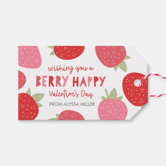 Berry Cute Valentine Gift Tags