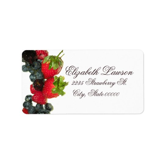 Berry Delight Address Label