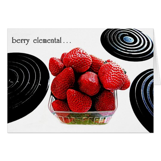 """BERRY ELEMENTAL""  ORIG PHOTOGRAPHY GREETING CARD"
